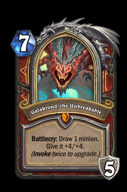 Galakrond, the Unbreakable Hearthstone kártya