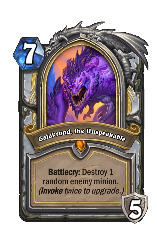 Galakrond, the Unspeakable Hearthstone kártya