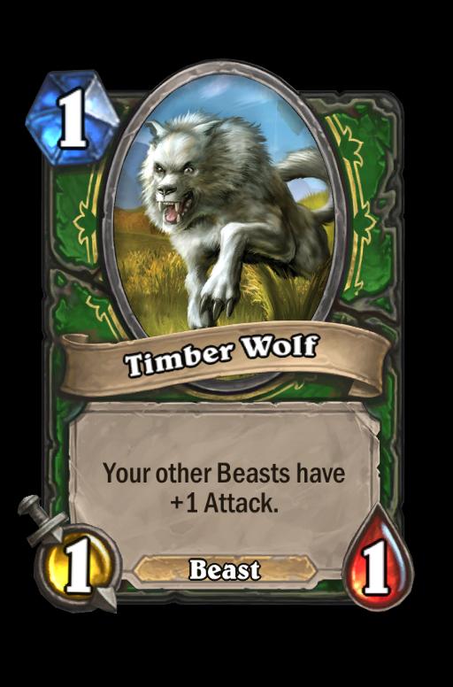 Timber Wolf Hearthstone kártya