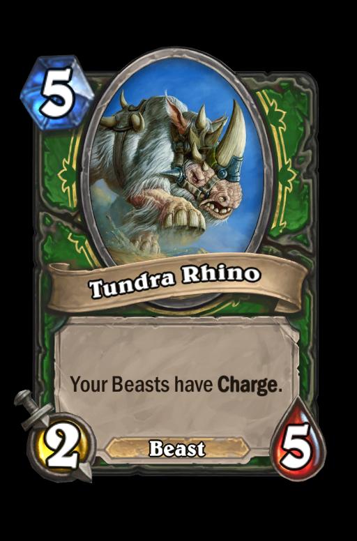 Tundra Rhino Hearthstone kártya