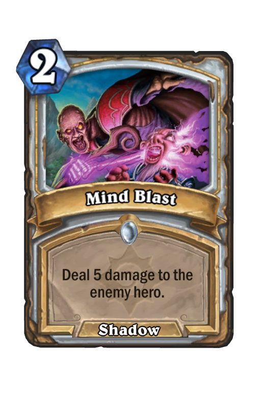 Mind Blast Hearthstone kártya