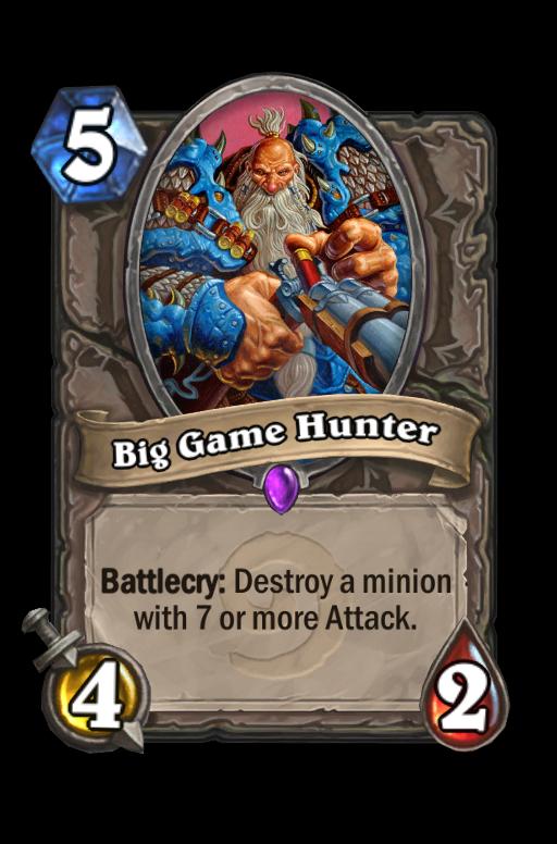 Big Game Hunter Hearthstone kártya