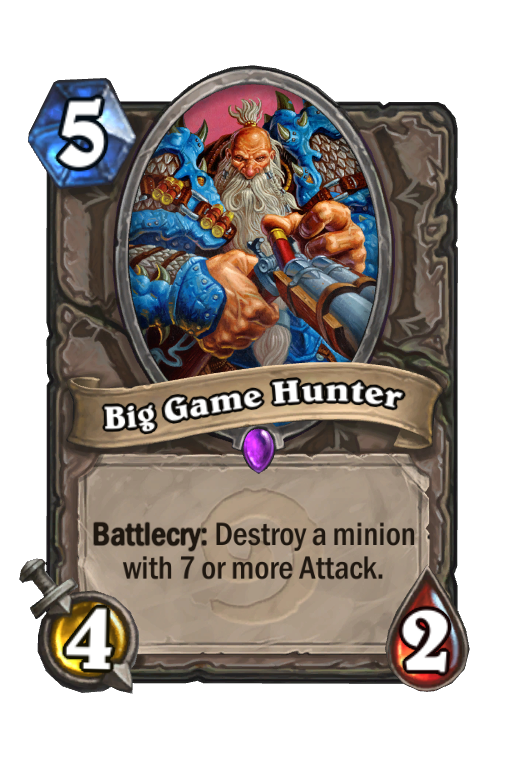 Big Game Hunter Hearthstone kártya