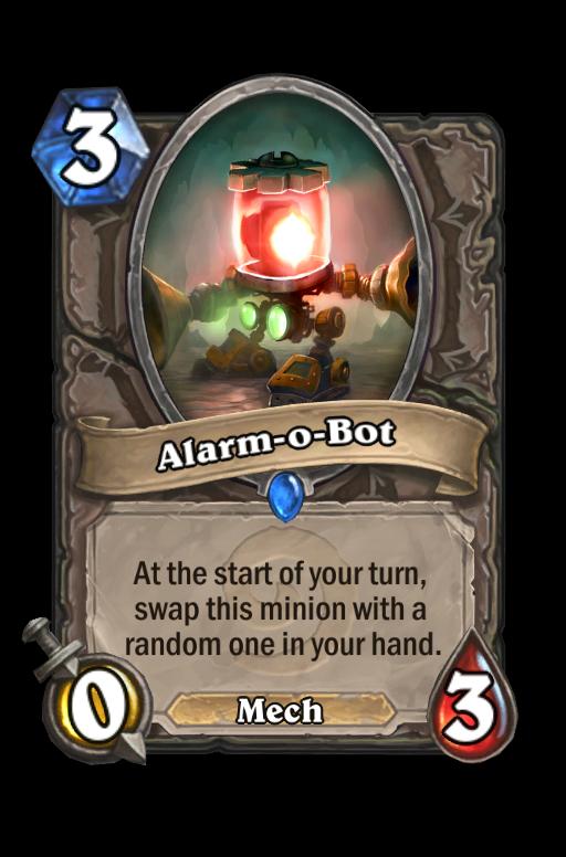 Alarm-o-Bot Hearthstone kártya