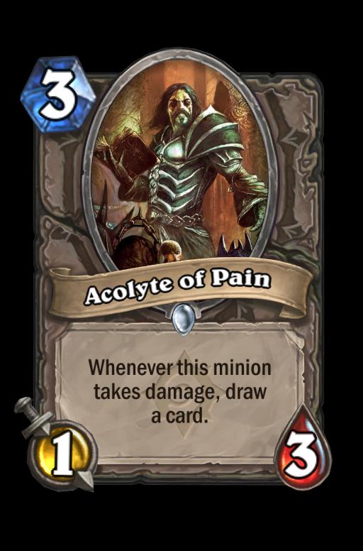 Acolyte of Pain Hearthstone kártya