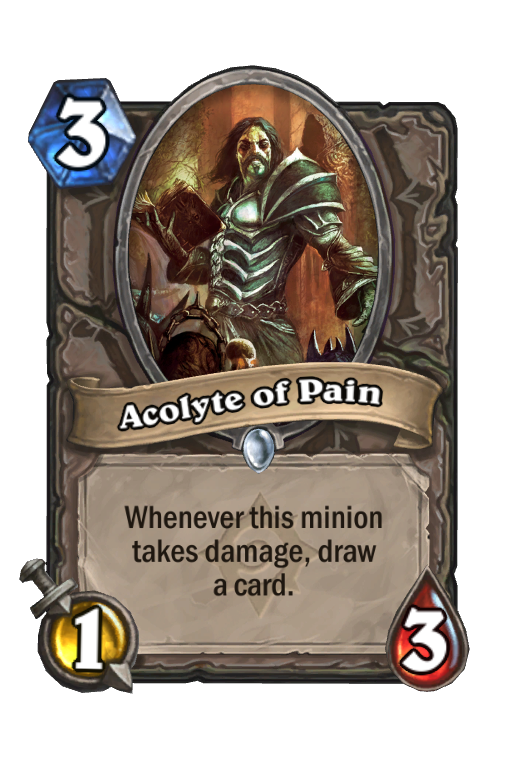 Acolyte of Pain Hearthstone kártya