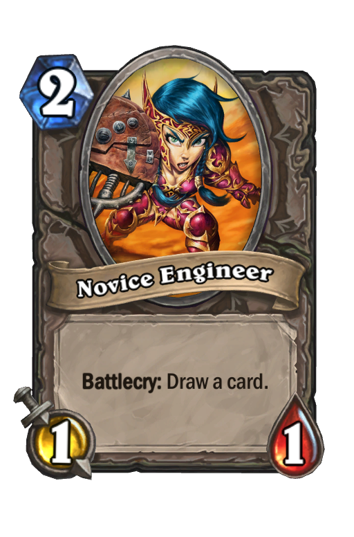 Novice Engineer Hearthstone kártya