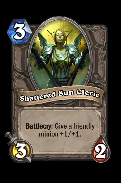 Shattered Sun Cleric Hearthstone kártya