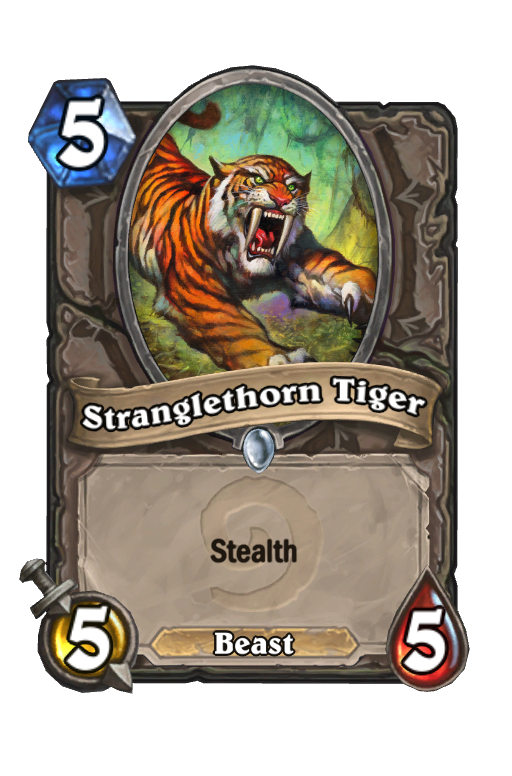 Stranglethorn Tiger Hearthstone kártya