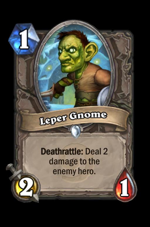 Leper Gnome Hearthstone kártya