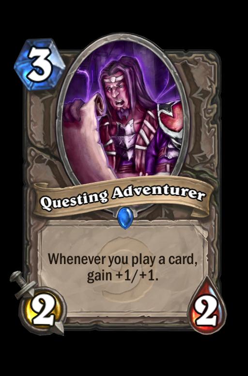 Questing Adventurer Hearthstone kártya