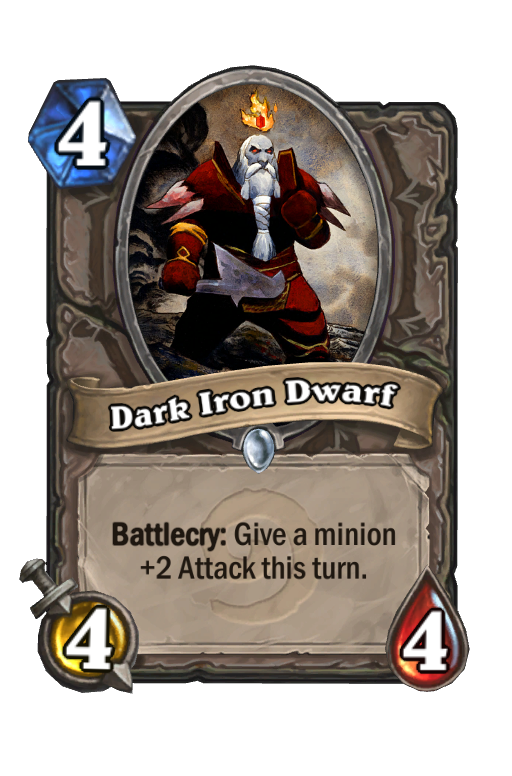 Dark Iron Dwarf Hearthstone kártya
