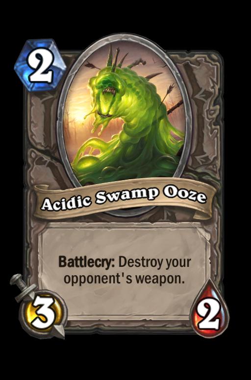 Acidic Swamp Ooze Hearthstone kártya
