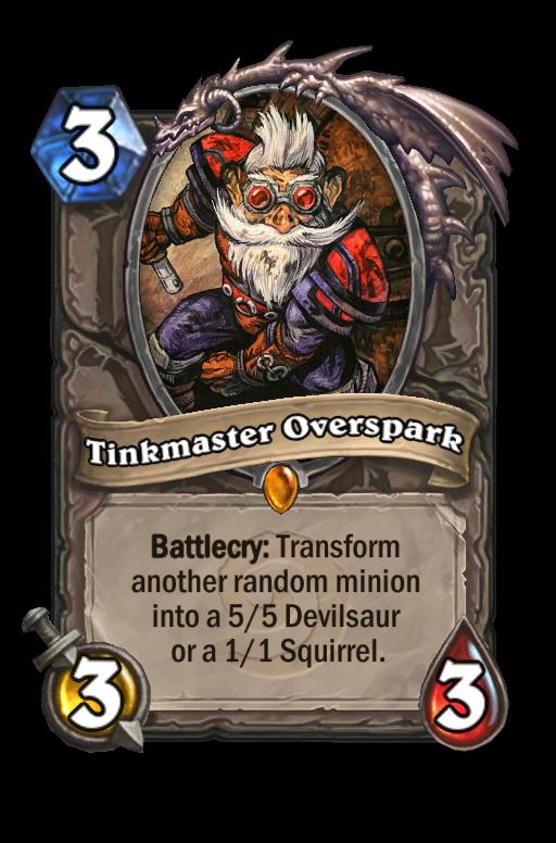 Tinkmaster Overspark Hearthstone kártya