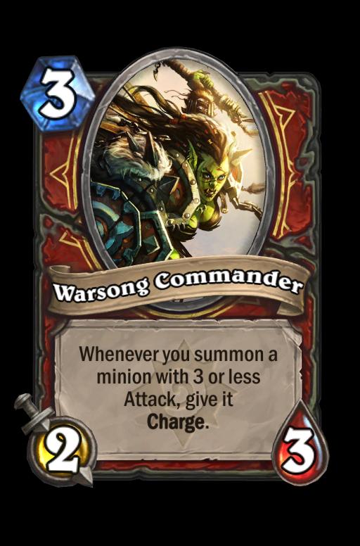 Warsong Commander Hearthstone kártya