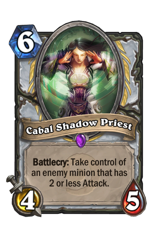 Cabal Shadow Priest Hearthstone kártya