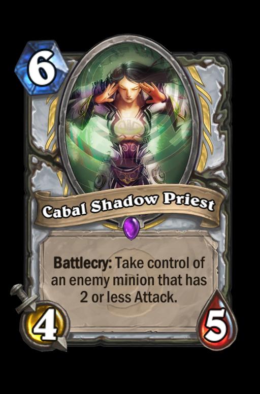 Cabal Shadow Priest Hearthstone kártya
