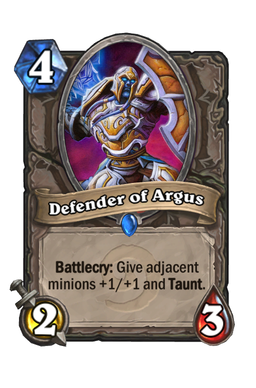 Defender of Argus Hearthstone kártya