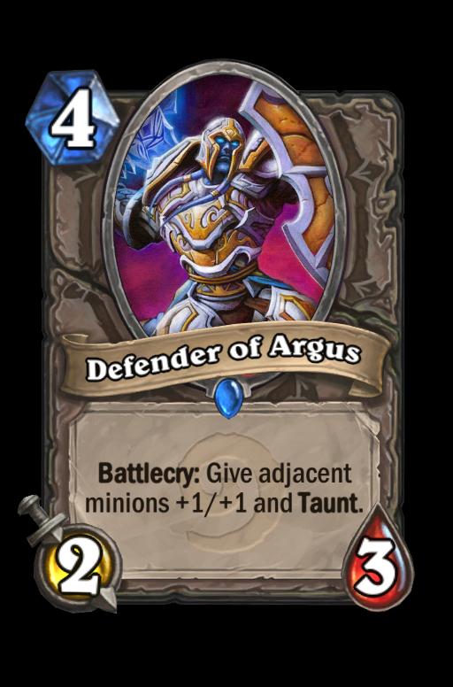 Defender of Argus Hearthstone kártya