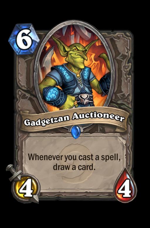 Gadgetzan AuctioneerHearthstone kártya