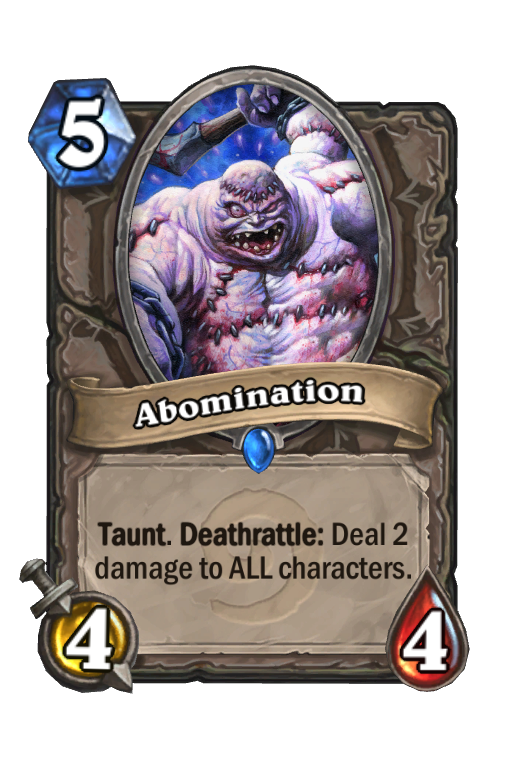 Abomination Hearthstone kártya