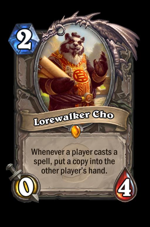 Lorewalker Cho Hearthstone kártya