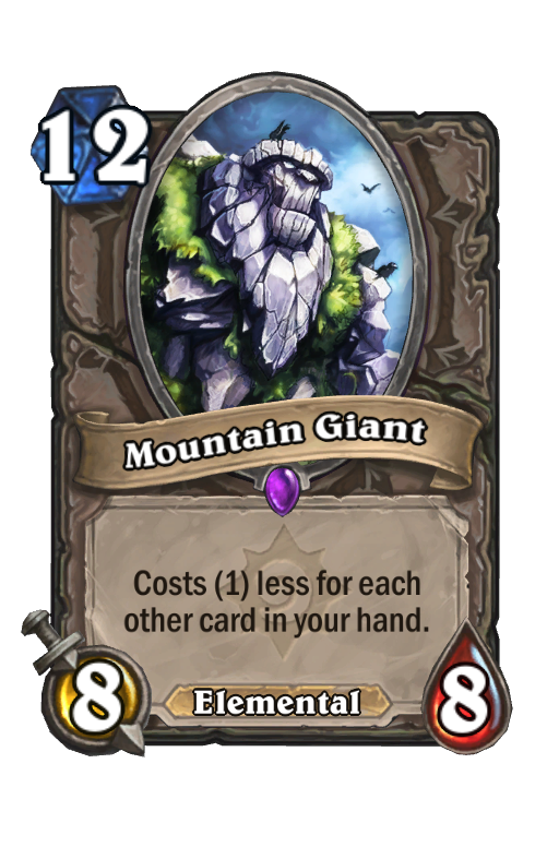 Mountain Giant Hearthstone kártya