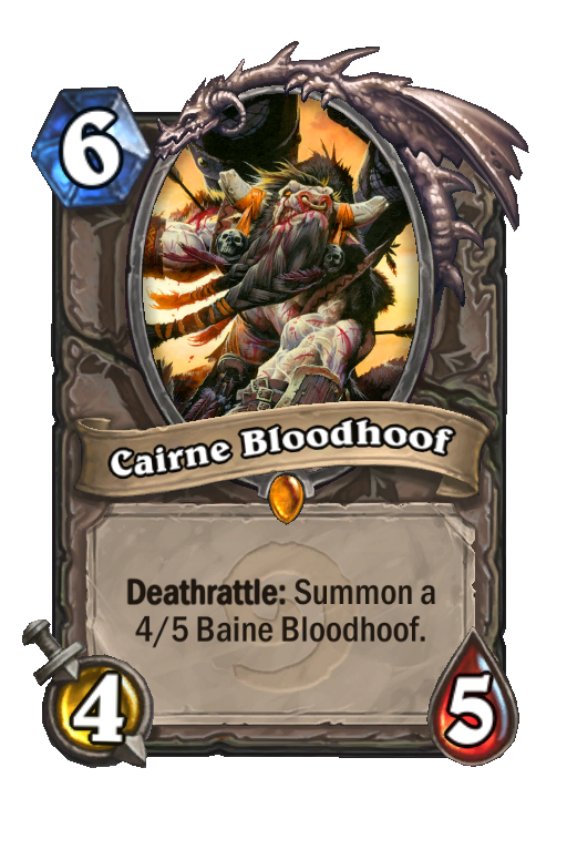 Cairne Bloodhoof hearthstone kártya