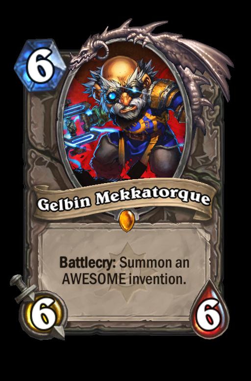 Gelbin Mekkatorque Hearthstone kártya