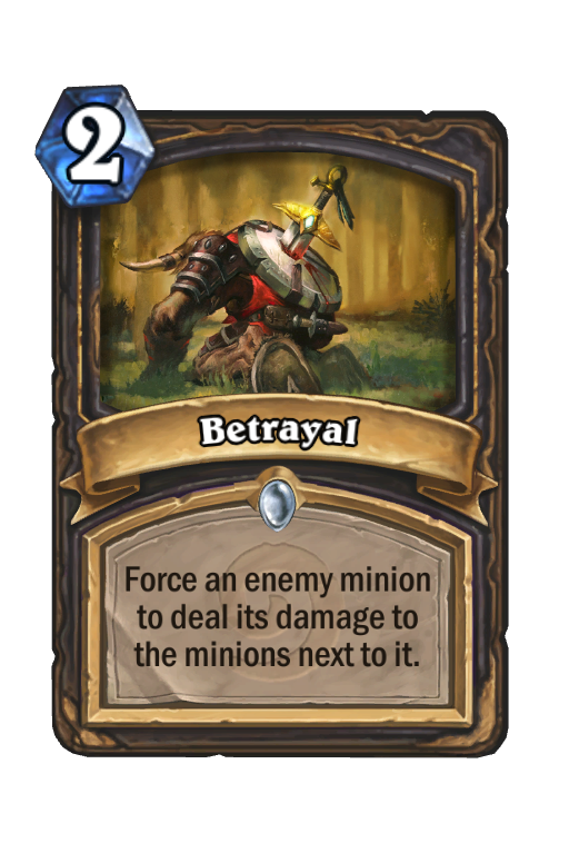 Betrayal Hearthstone kártya