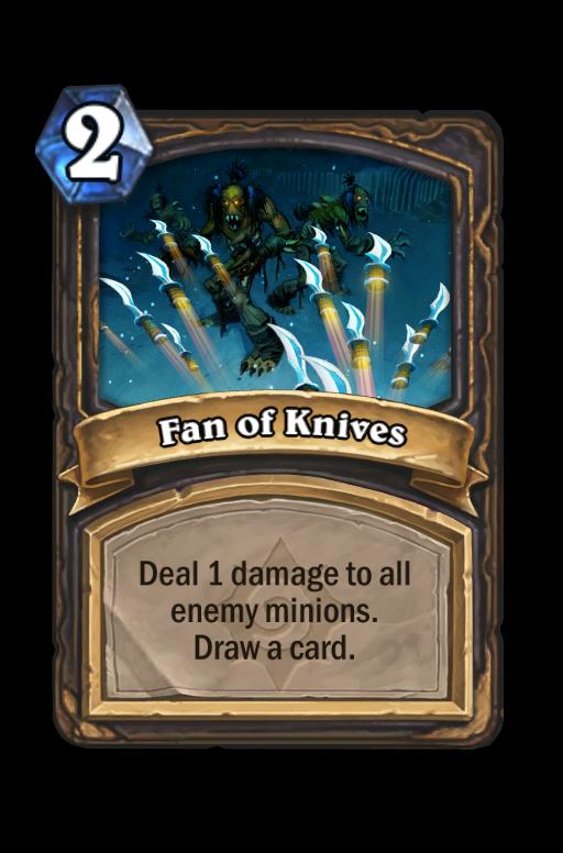 Fan of Knives Hearthstone kártya