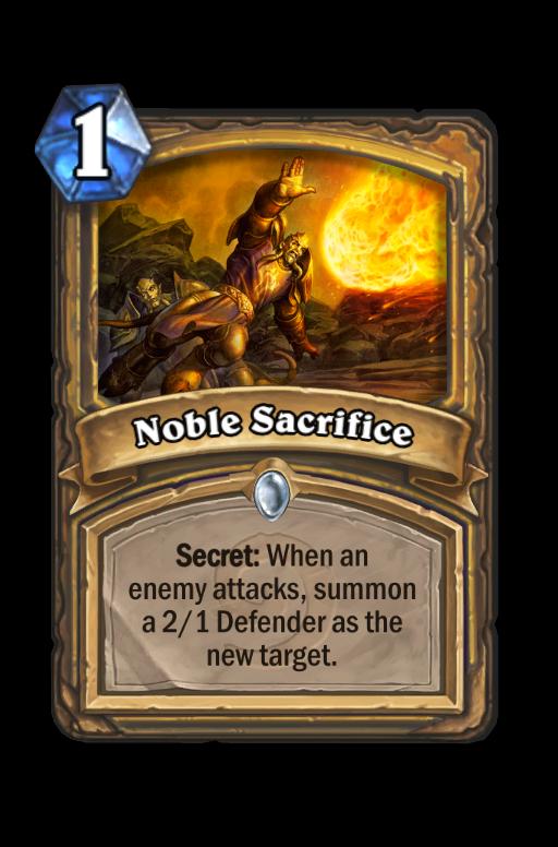 Noble Sacrifice Hearthstone kártya