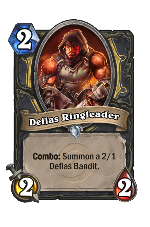 Defias Ringleader Hearthstone kártya