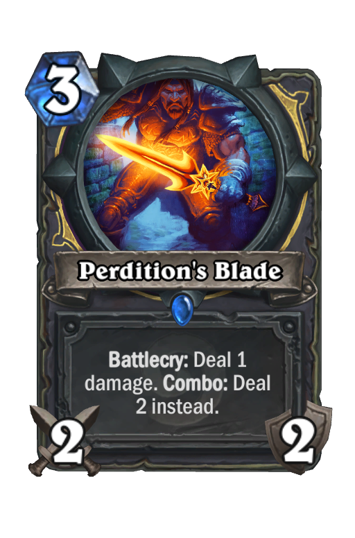 Perdition's Blade Hearthstone kártya