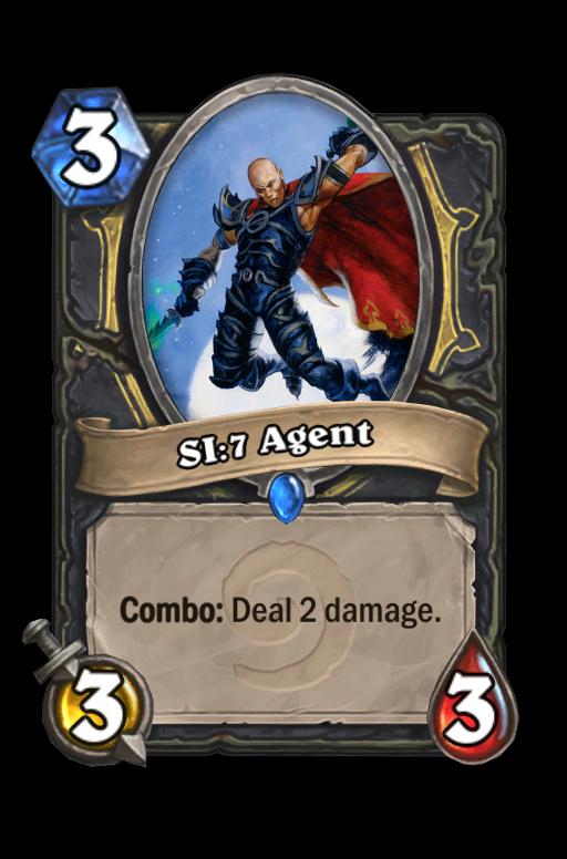 SI:7 Agent Hearthstone kártya