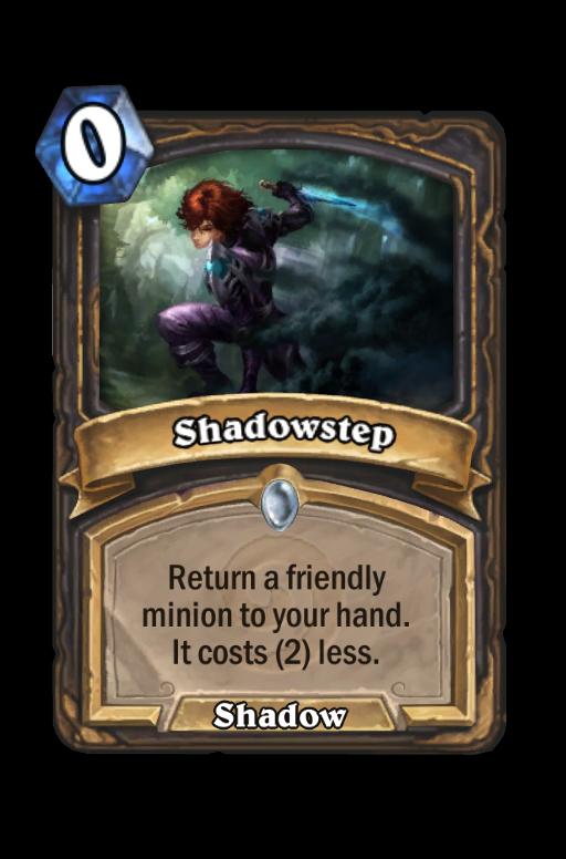 Shadowstep Hearthstone kártya