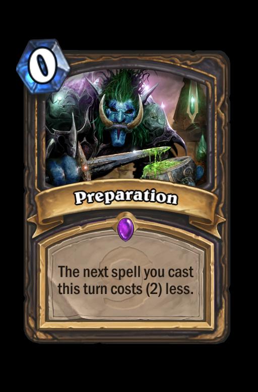 Preparation Hearthstone kártya