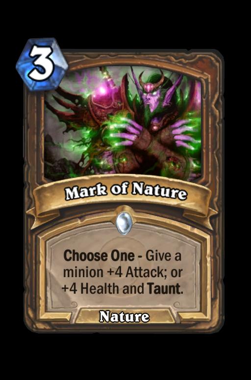 Mark of Nature Hearthstone kártya
