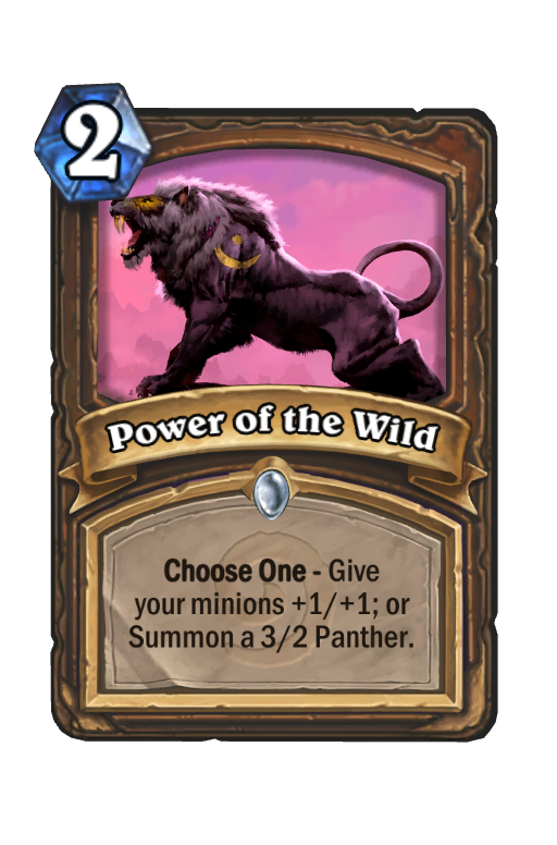 Power of the Wild Hearthstone kártya
