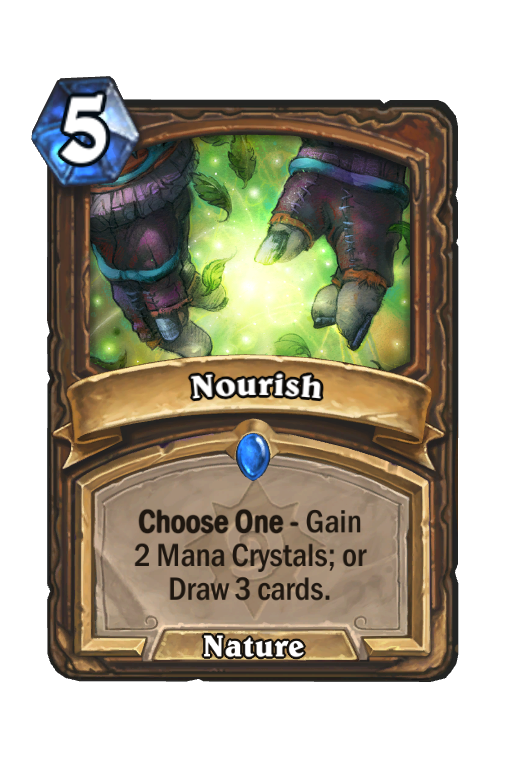 Nourish Hearthstone kártya