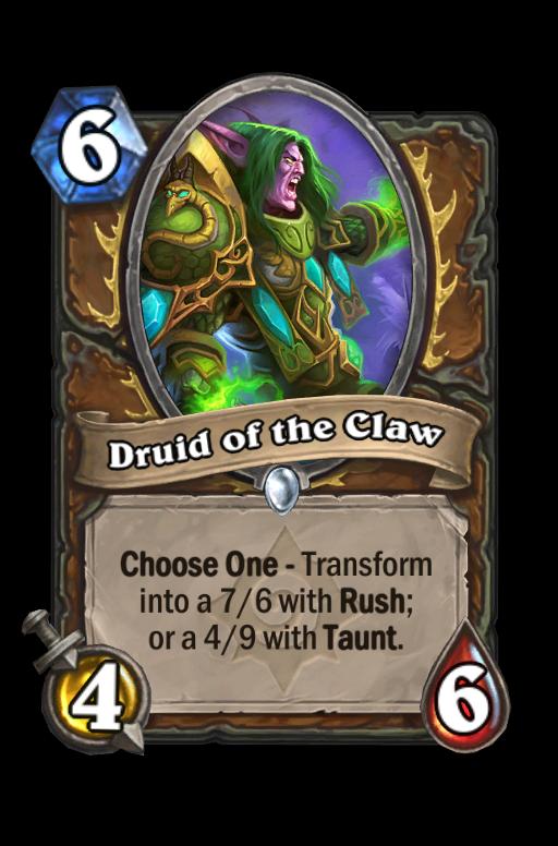 Druid of the Claw Hearthstone kártya