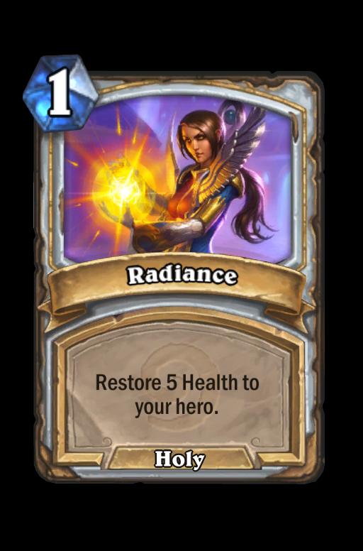Radiance Hearthstone kártya