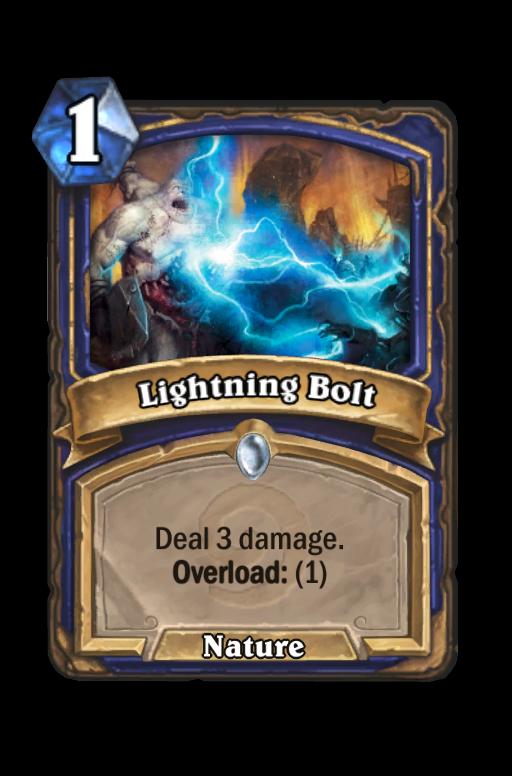 Lightning Bolt Hearthstone kártya