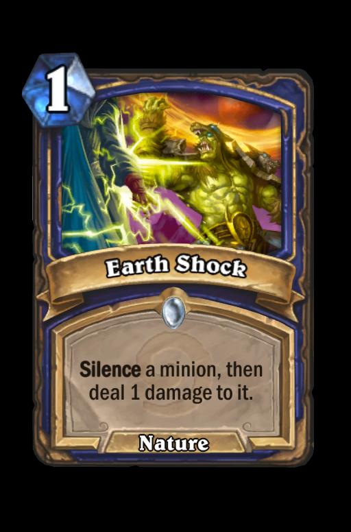 Earth Shock Hearthstone kártya