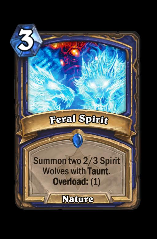 Feral Spirit Hearthstone kártya