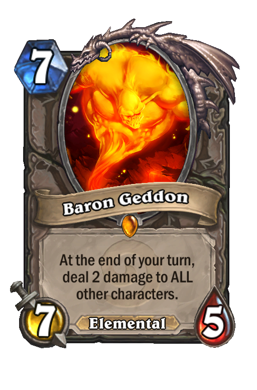 Baron Geddon Hearthstone kártya