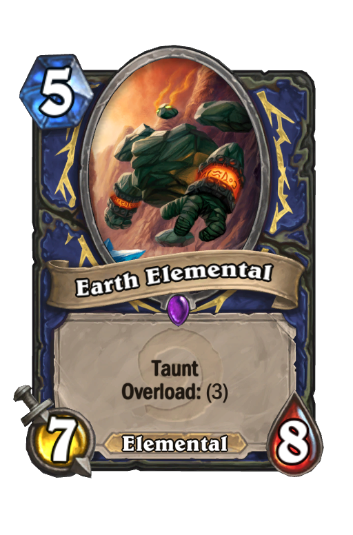 Earth Elemental Hearthstone kártya