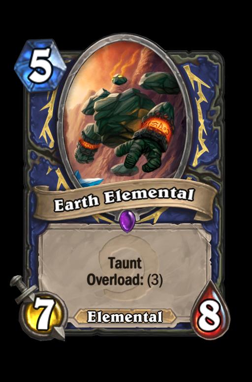 Earth Elemental Hearthstone kártya