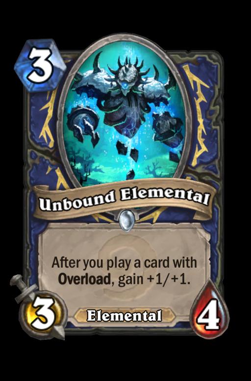 Unbound Elemental Hearthstone kártya
