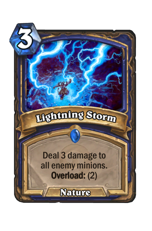 Lightning StormHearthstone kártya